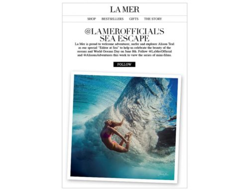 Collaboration with La Mer for World Oceans Day