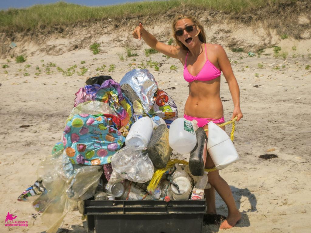 AlisonsAdventures_Beach clean up result IMG_1181